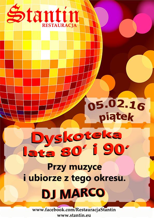 Zabawa z DJ Marco LATA 80 – 90